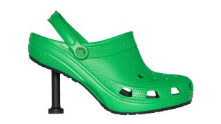 Balenciaga teamed up with Crocs to create these heels for its Spring 2022 collection.