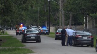 Officers were called to a shooting in the 10600 block of Grady Lane, near North Masters Drive, shortly before noon.