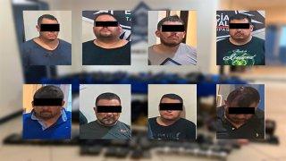 Fotos policiales de ocho personas.