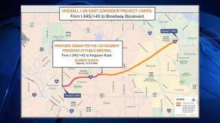 The scope of the massive corridor project includes widening and reconstructing I-30E from Interstate 345 and Interstate 45 to Ferguson Road — the portion of freeway that bisects parts of Deep Ellum, East Dallas, Fair Park, South Dallas and Pleasant Grove.