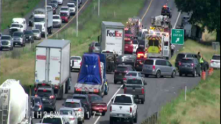 Burleson police said the crash happened in the northbound lanes of South I-35W, between FM917 and East Bethesda Road.