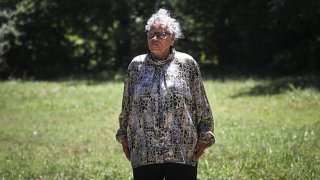 Opal Lee, 94, stands in front of the East Annie Street lot on June 2, 2021, where white rioters attacked, invaded and burned her family's home in 1939.