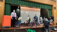 Students With Perfect Attendance Prepare to Cycle Into Summer