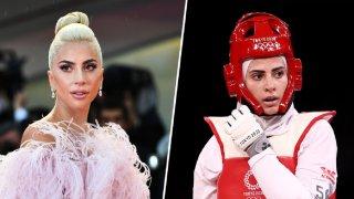 Lady Gaga, left, and Julyana Al-Sadeq, right.