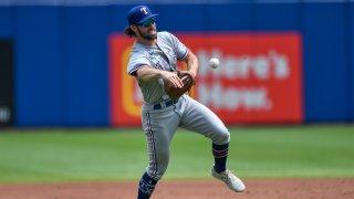 Rangers Blue Jays Baseball Culberson