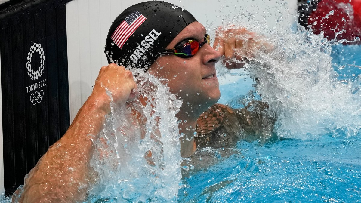Dressel Joins Exclusive Club With 5 Golds at Tokyo Olympics