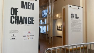 Men of Change African American Museum exhibition entrance