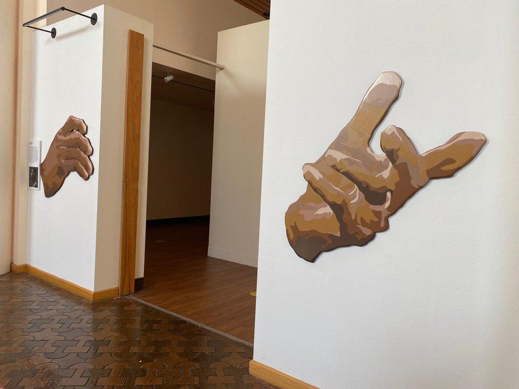 African American Museum Men of Change LeBron James hands