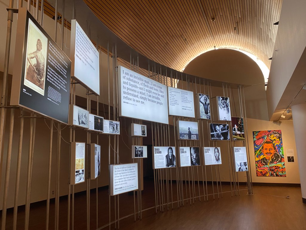 African American Museum Men of Change exhibition installation