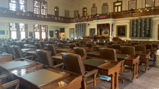 The Texas House chamber at the state capitol.
