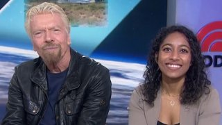Sir Richard Branson and his fellow astronaut Sirisha Bandla