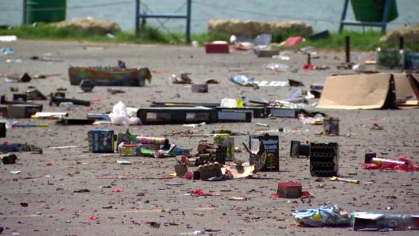 lake arlington trash