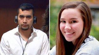En la foto, Cristhian Bahena Rivera, de 27 años (izquierda); Mollie Tibbetts (derecha), tenía 20 años cuando fue asesinada.