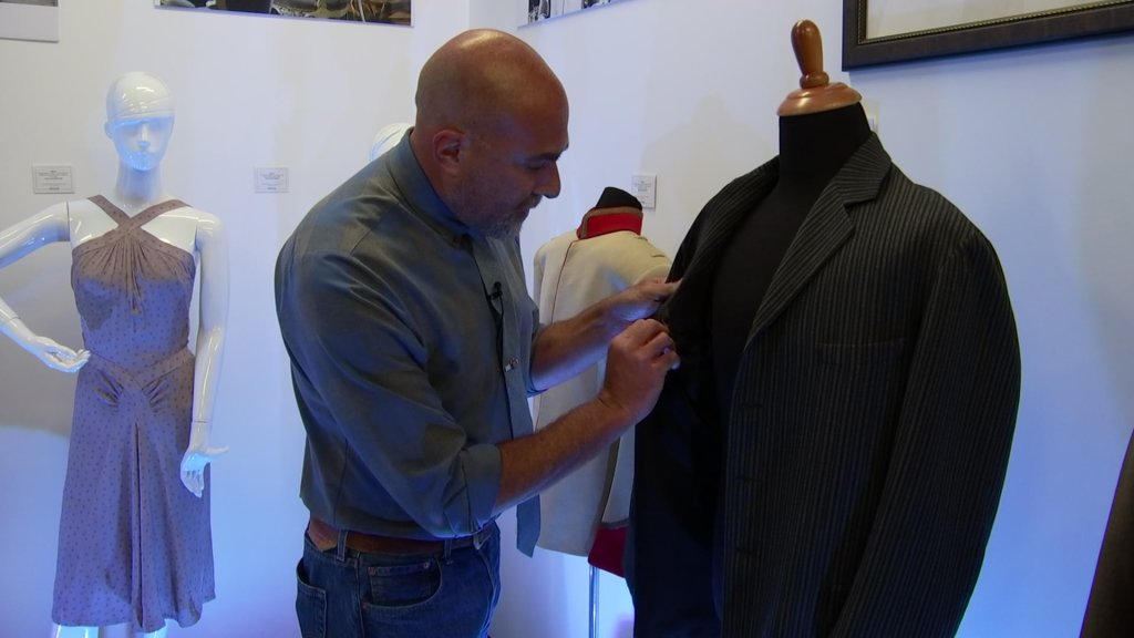 Robert Wilonsky points to a jacket worn by Orson Welles in Citizen Kane.