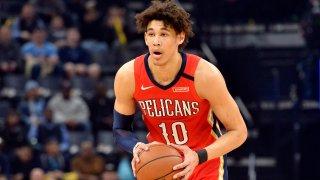 New Orleans Pelicans center Jaxson Hayes