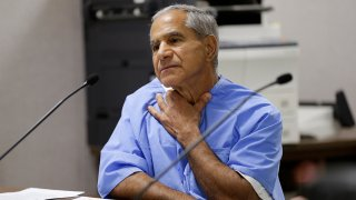 FILE - Sirhan Sirhan describes being choked during a parole hearing on Feb. 10, 2016, at the Richard J. Donovan Correctional Facility in San Diego.