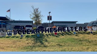 Clear the Shelters Yard Lettering