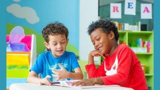 Two Boys Reading - RWY
