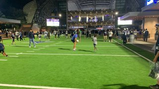 A new venue outside AT&T Stadium is giving Cowboys fans a new place to root on the home team.