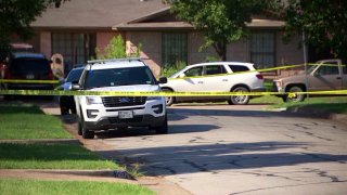 Two people have been charged in the death of man who was fatally shot Monday afternoon in Pleasant Grove.