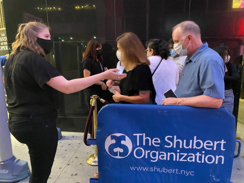Checking in audience at Chicago on Broadway
