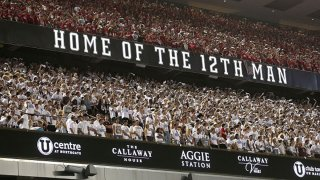 A view of the student section at Kyle Field as the Texas A&M Aggies played the Kent State Golden Flashes on Sept. 4, 2021 in College Station, Texas.