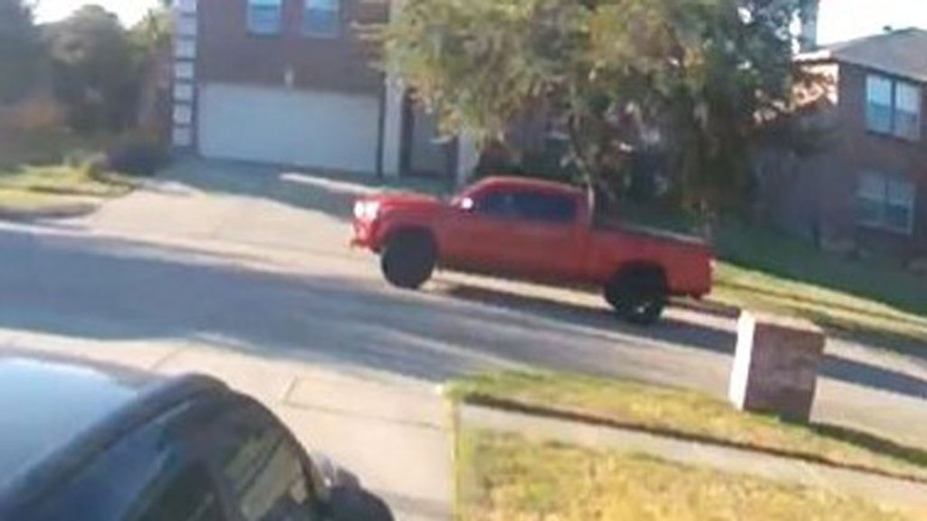 Arlington police released the above photo of truck they are looking for in connection to a hit-and-run that left a 5-year-old in the hospital.