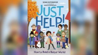 """This cover image released by Penguin Young Readers shows """"Just Help!"""" by Supreme Court Justice Sonia Sotomayor."""