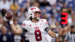 SMU quarterback Tanner Mordecai