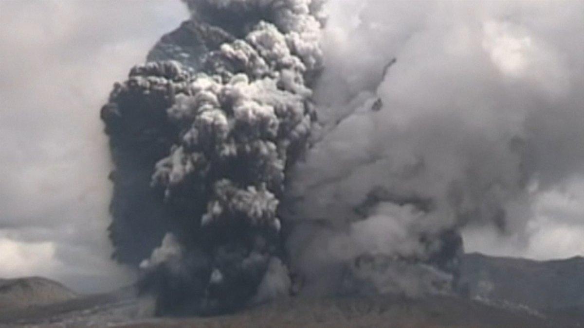 WATCH: Mt. Aso Volcano Erupts in Japan, Sending Massive Smoke Column Into Sky