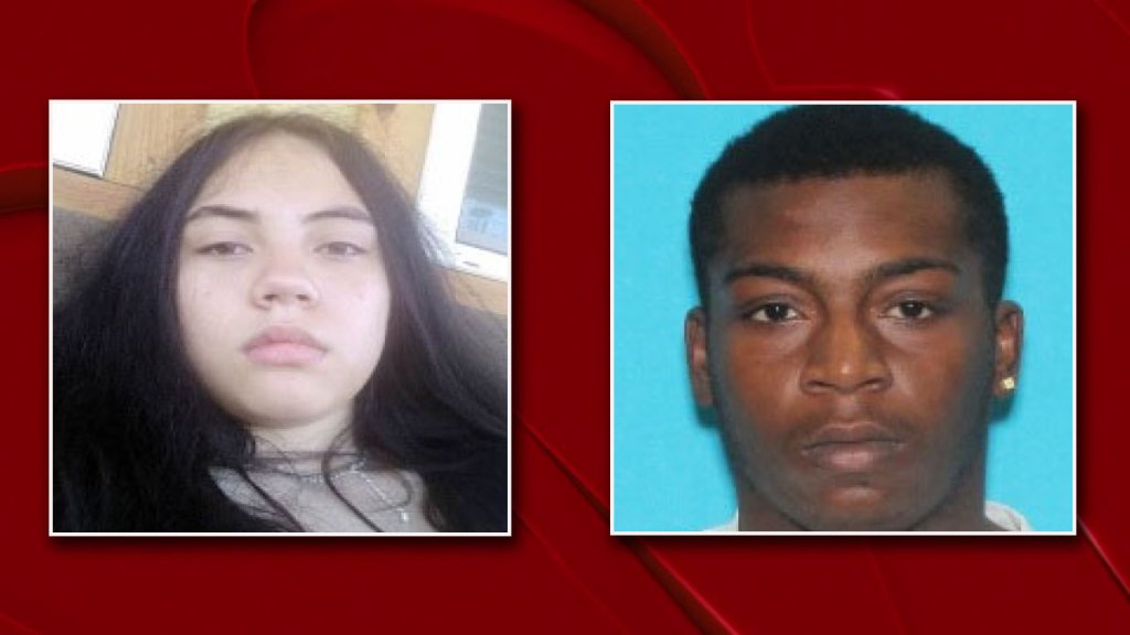An Amber Alert was issued Tuesday night for Leilana Graham, left, of Houston. Authorities are looking for Sha Kendrick Smith, right, in connection to her disappearance.