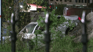 After hitting the three individuals, the vehicle flipped and crashed, hitting a pole and ended up in a ditch.
