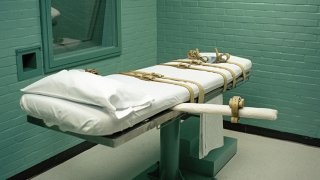 Death chamber gurney at the Huntsville prison in Texas. The State of Texas adopted lethal injection as a means of execution in 1977. The first lethal injection in the country was performed in the Huntsville death chamber on December 7, 1982. Since the execution of Charlie Brooks Jr., Texas has performed a total of 241 executions by lethal injection.The state of Texas executes more people than all of the other states combined.