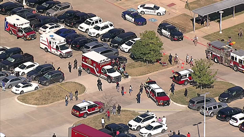 Photos of Active Shooter Situation at Mansfield Timberview High School