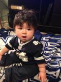 [UGCDFW-CJ-caption this]My son watching the Dallas Cowboys game