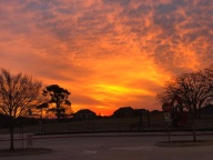 [UGCDFW-CJ-weather]Sunset over Nancy Neal Elementary in Mansfield Texas
