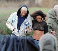 Rihanna 'We Found Love' music video shoot, Bangor, Northern Irel