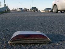Snowplows Chew Up Thousands of Reflective Lane Markers