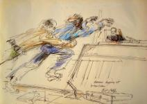 Sketching History: Courtroom Artist on Infamous Charles Manson Portrait