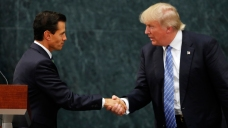 Trump Talks Border Wall in Mexico, but Not Payment