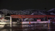 Raw: Tornado Rips Dallas Home Depot to Pieces