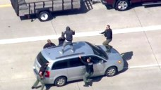 Homicide Suspect in Detroit Chase Runs Into Highway Traffic