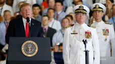 Trump Helps Commission $12.9 Billion Aircraft Carrier