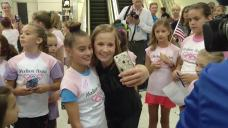 Olympian Madison Kocian Arrives Home in North Texas