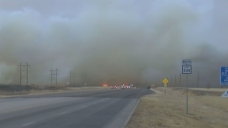 Grassfires Burn in Texas Panhandle