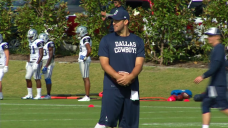Tony Romo Returns to the Field, Throws But Doesn't Practice