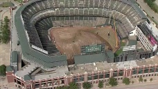 Construction Underway at Globe Life Park for New Reconfiguration