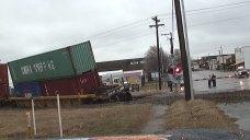 Train Derailment Near Downtown Weatherford