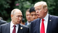 Trump Arrives in Finland for Closely Watched Putin Summit