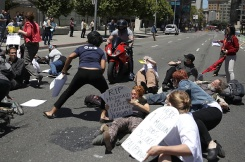 Motorcyclist Allegedly Drives Through Health Care Demonstrators in Calif.